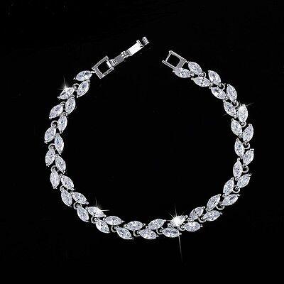 5.00 Carat Round Diamond Tennis Bracelet Handmade 14k White Gold Toned Earrings