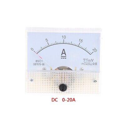 Dc 0-20a Amp Meter Analog Measurement Ammeter Amperemeter Current Panel Screws