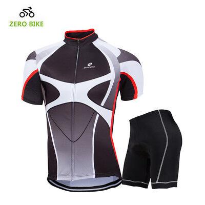 Pro Mens Cycling Set Jersey  Bike Pad MTB Shirt Shorts Kits