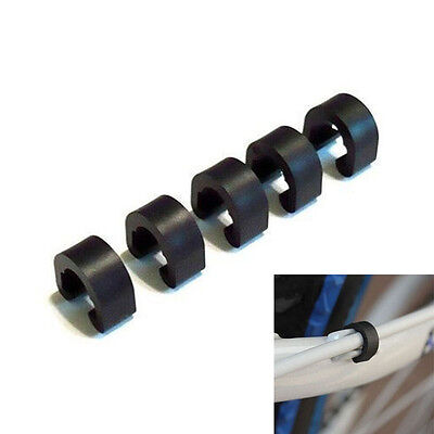 10 X BTT carretera bicicleta freno cable guías manguera C-clip XM