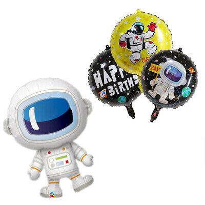 Cute Foil Astronaut Rocket Balloons Party Decoration HAPPY BIRTHDAY Kids Boy - Cute Birthday Balloons
