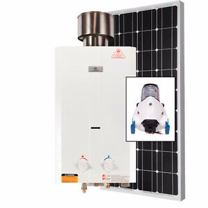 Eccotemp L10 Tankless Water Heater (w/ 12V pump & 100W Solar Kit