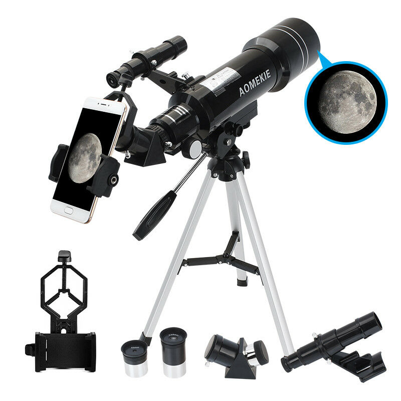 40070 Refractor Astronomical Telescope With Tripod & Phone A