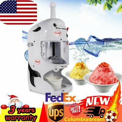 Electric Ice Shaver Snow Cone Maker Machine Automatic Slushy Shaving Crusher Usa