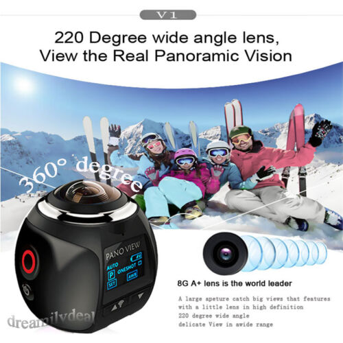 как выглядит 4K Wifi 360 Degree HD Ultra Panoramic Sport Camera Action Driving Helmet VR Cam фото