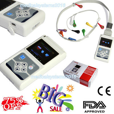 Tlc5000 Ecgekg System12 Channel Holter Monitor 24 Hours.pc Software Newest Usa