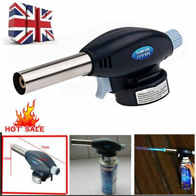 Torch Butane Gas Flamethrower Blow Burner Welding Auto Ignition Soldering BBQ