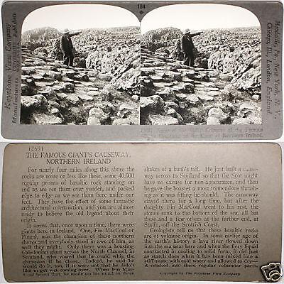 Keystone Stereoview Giant S Causeway  No  Ireland Coast From Rare 1200 Card Set