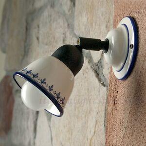Applique spot lampada parete classico rustico country for Illuminazione taverna