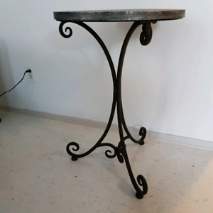 Side table - cast iron legs