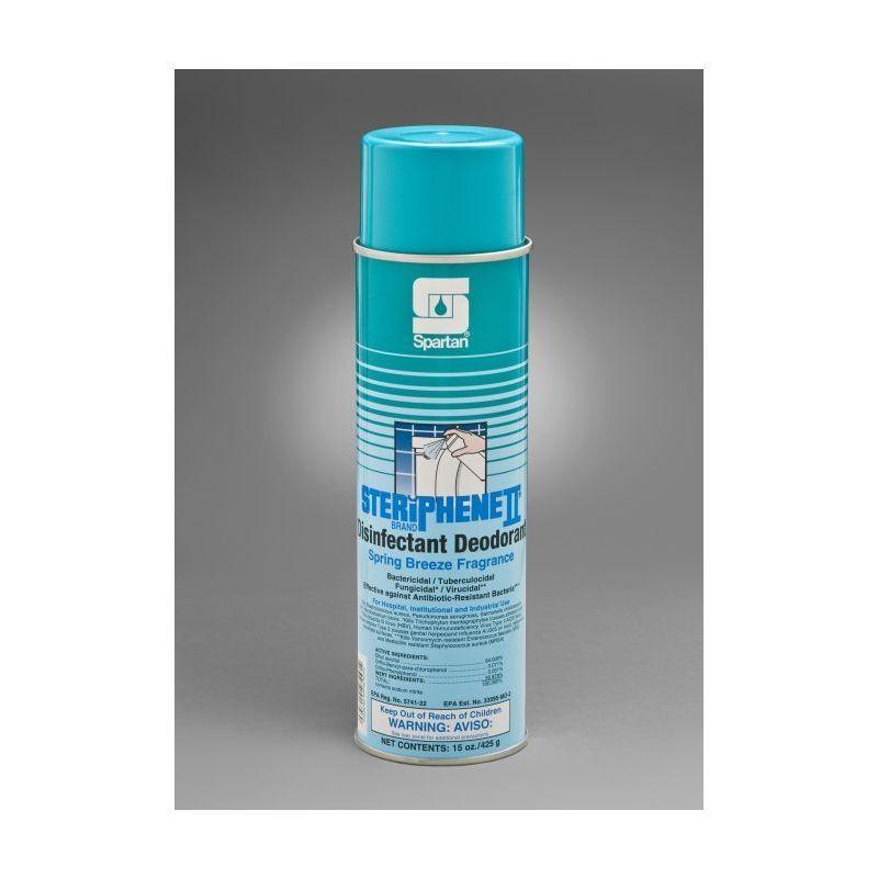 Spartan Steriphene II Disinfectant Deodorizer, Spring Breeze 15oz net wt, 12/Cs