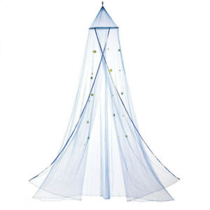 Kid's Blue Cascading Net Bed Canopy with Star Accents Brand New