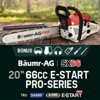 "BRAND NEW IN BOX BAUM-R SX66 20"" PRO CHAINSAW Swan View Swan Area Preview"