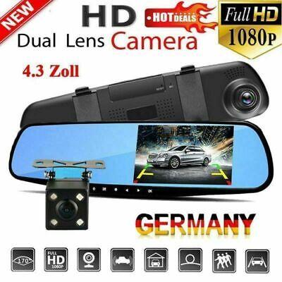 "4.3"" Dashcam Car DVR Autokamera Full HD 1080p Nachtsicht Videos Bewegungssensor"