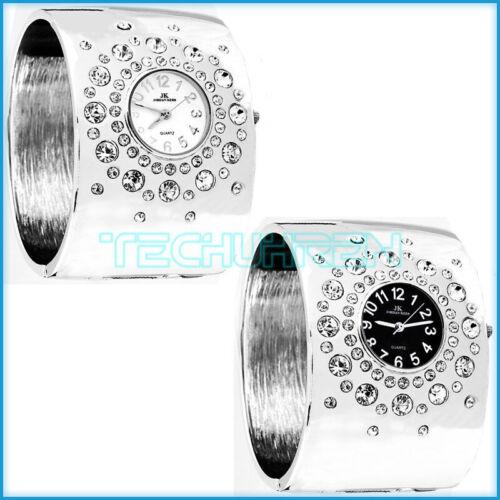 JORDAN KERR Große Armbanduhr für Damen Armreif mit Swarovski Steinen