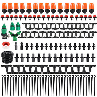 40m Water Irrigation Kit Set Micro Drip Watering System Auto Plant Garden -