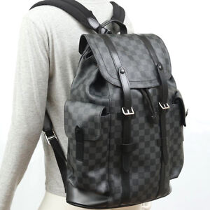LOUIS VUITTON BACKPACK, Christopher PM, Damier Graphite