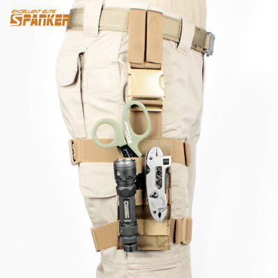 Tactical Drop Leg Rig for Tool Holster Molle Panel Left Right Thigh Modular Belt