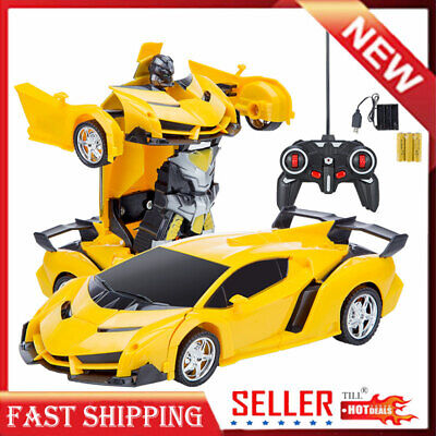 Kids Toy Transformer RC Robot Sports Car Remote Control Car Best Kids Baby