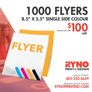 1000 Colour Flyers for $100 (limited time offer)