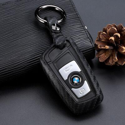 Car Key Case Carbon Fiber Look Accessories For BMW 3 5 Series 1pcs
