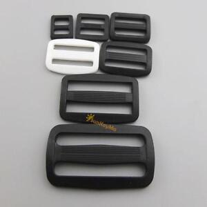 3-8-5-8-3-4-1-Plastic-Triglides-Slides-4-Buckle-Leather-strap-Belt-Webbing