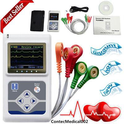 Contec 3-channel 24 Holter Monitor Ecgekg System Machinepacemaker Analyzerusa