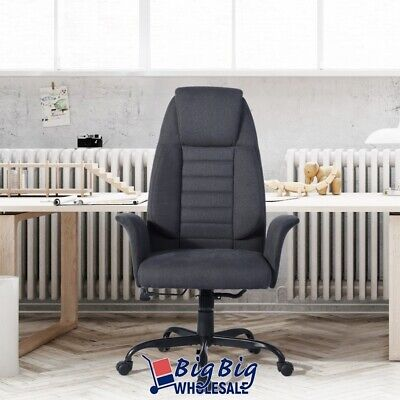 Modern Executive Office Chair Swivel Black Fabric High Back Desk Task Computer