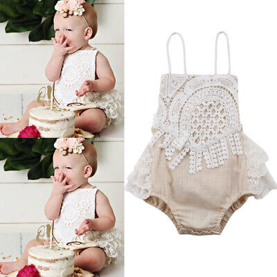 Outfits For Kids (For Newborn Baby Girls Kids Bandage Romper Bodysuit Jumpsuit Outfits Clothes)
