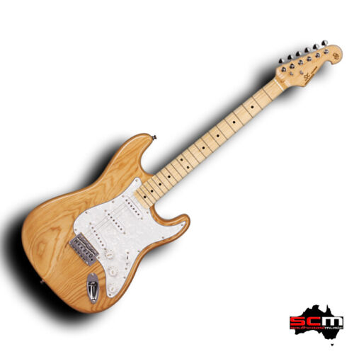 Strat Shaped Electric Guitar SX ASH2M American Swamp Ash Body Pro-SCM setup