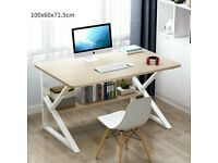 Home Office Desk Computer PC Writing Table Wooden Metal Furniture - LIKE NEW