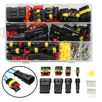 1-4 Pin Way Plug Waterproof Car Auto Electrical Wire Connector Plug Kit
