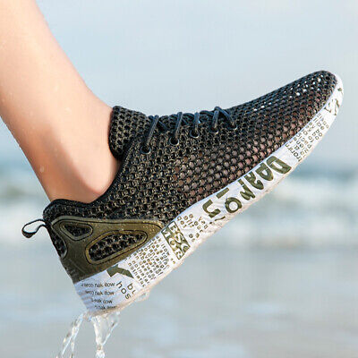 Men's Water Shoes Sneakers Casual Ultralight Mesh Sports Running Walking Shoes - Mesh Water Shoes
