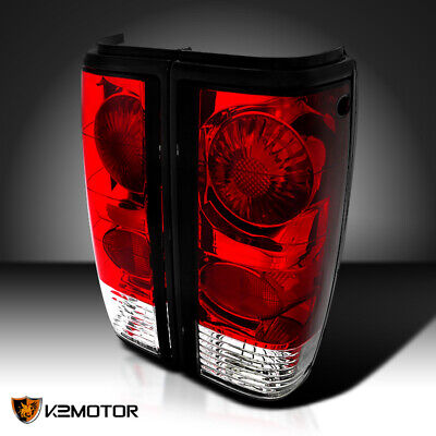 Chevy 82-93 S10 83-94 S10 Blazer Red/Clear Rear Tail Brake Lights 83-90 GMC S15
