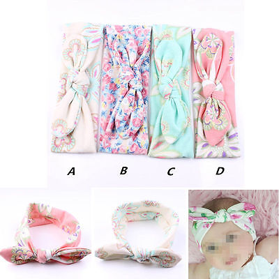 4pcs Newborn Headband Ribbon Elastic Baby Headdress Kids Hair Band Girl Bow Knot