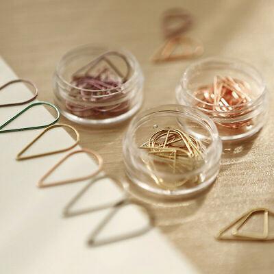 20 Pcs Water Drop Shape Metal Paper Clips Bookmark Tationary Office Supplies