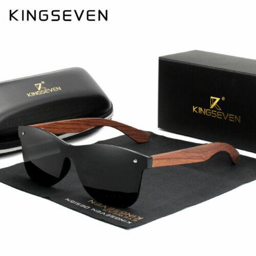KINGSEVEN Natürliche Holz Sonnenbrille Männer polarisierte Mode Sonnenbrillen