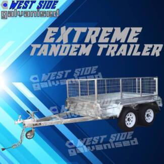 ⇤ 10By5 Silver Tandem Trailer Extreme heavy-duty and GALVANISED⇤