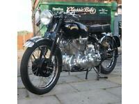 1950 Vincent Rapide 1000cc C Series, Classic Vintage Rare, Collectors, Buff Book
