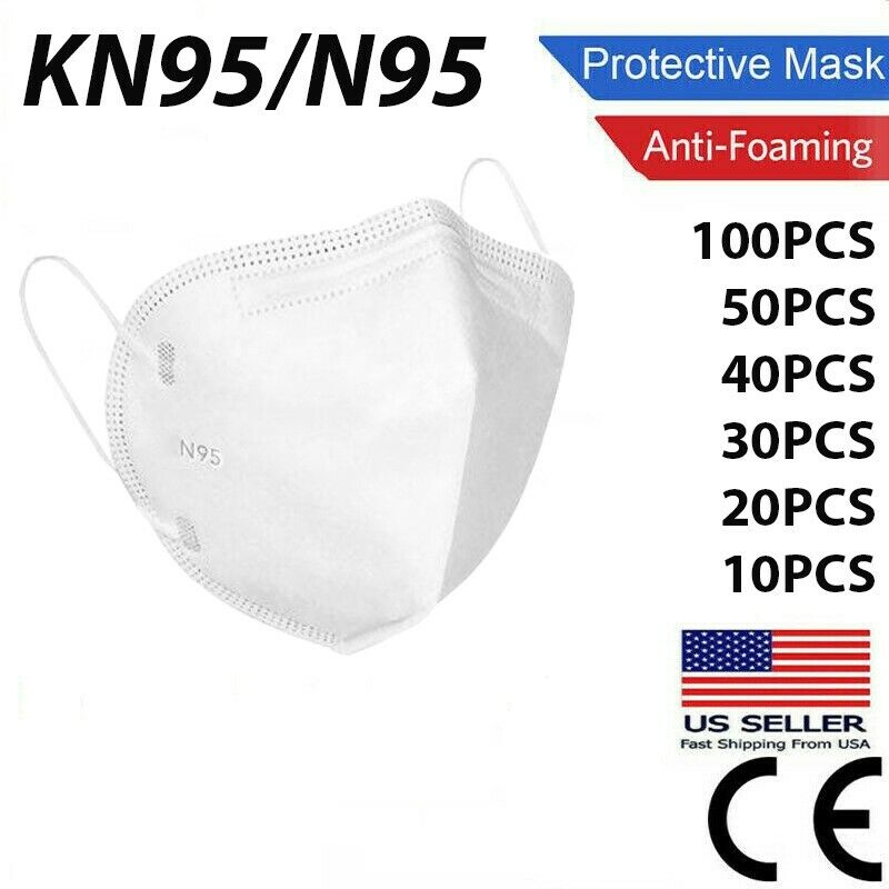 10/50/100 Pcs Kn95 Disposable Face Masks 5 Layers Filters 95%+ Pfe & Bfe