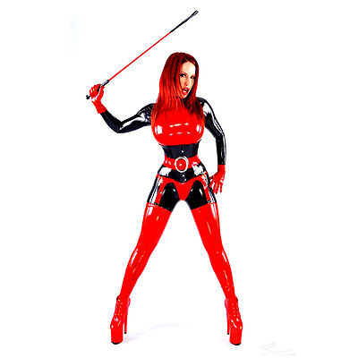 Reality Latex Women Catsuit Front Zipper Rubber Catsuits Customize Plus Size