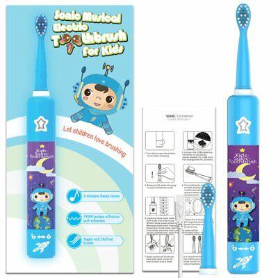 3 modları seyahat elektrikli sonic temiz diş fırçası çocuklar için şarj edilebilir müzikal