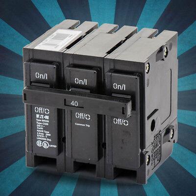 - BR340-Eaton/Cutler-Hammer Plug-On Circuit Breaker 3POLE 40AMP Plug-On BR 3PHASE