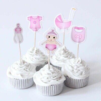 24 St. Tortentopper Cupcake Topper BABY GIRL Mädchen Kindergeburtstag Muffins