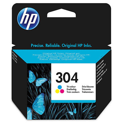 HP 304 originale Tintenpatrone Farbig bis zu 100 Seiten NEU