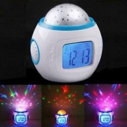 Change Colors Sky Star Night Light Projector Lamp Bedroom Alarm Clock Room
