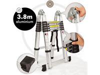 Aluminium Telescopic Ladder A Frame Shape Brand New
