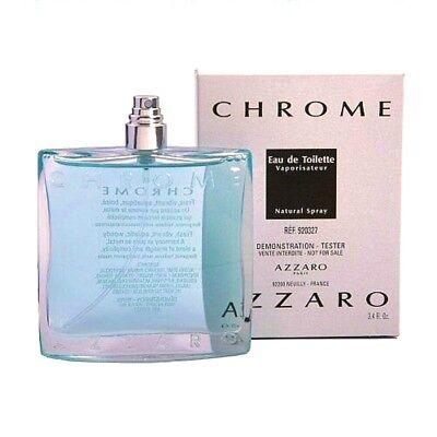 Azzaro Chrome Cologne For Men By Azzaro Eau De Toilette Spray 3 4 Oz  New Tester