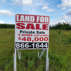 REDUCED !!  8 Acres in Shediac Cape (possibly 16 acres)