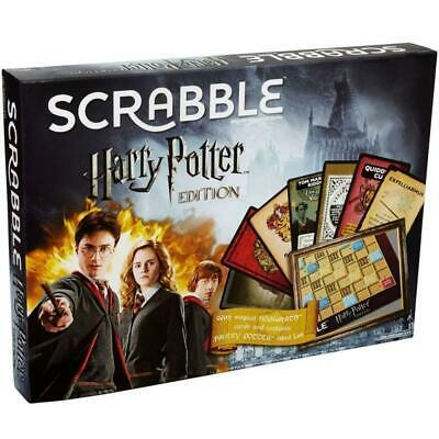 31668 HARRY POTTER EDITION SCRABBLE WITH WIZARDING WORDS CROSSWORD BOARD GAME